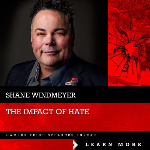 Shane Windmeyer, stop the hate speaker